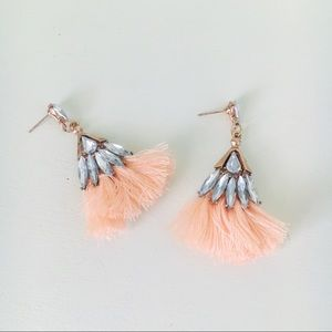 Jewel Fringe Tassel Earrings